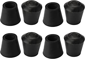 uxcell 8pcs Chair Leg Tips Caps 12mm 1/2 Inch Anti Slip Rubber Furniture Table Feet Cover Floor Protector Reduce Noise Prevent Scratches
