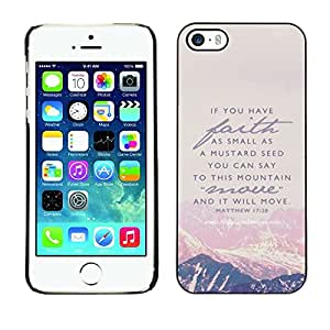 Impact Case Cover with Art Pattern Designs FOR iPhone 5 / 5S Mountain Faith God Jesus Christ Bible Betty shop