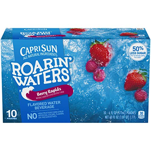 Capri Sun Roarin' Waters Flavored Water Beverage, Berry, 10 Pouches ()
