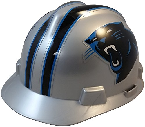MSA NFL Ratchet Suspension Hardhats - Carolina Panthers Hard Hats -