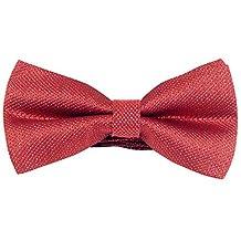 Panegy Mens Adjustable Pre-Tied Jacquard Formal Tuxedo Polyester Neck Bowtie Peach