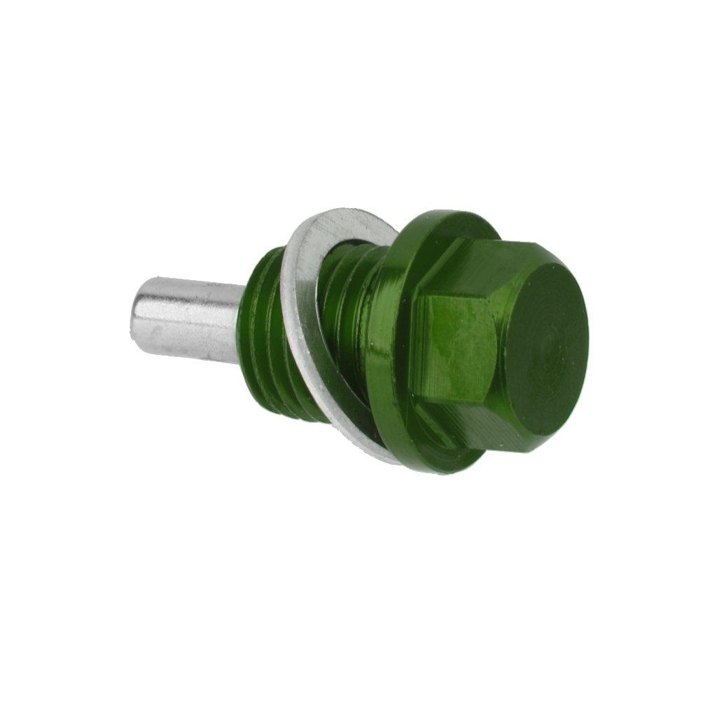 M14x1.5 Anodizzato Motore Magnetico Della Coppa Dellolio Tappo Di Scarico Della Trasmissione Verde