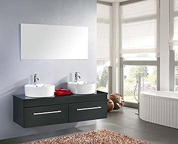 Frizzo Muebles DE BAÑO para Cuarto DE DE BAÑO Moderno Negro 150x42cm ...