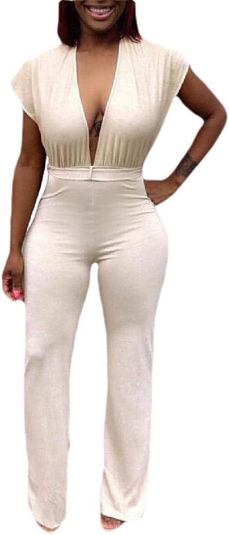 Xswsy XG Womens Summer V Neck Sleeveless Backless Hoodies Jumpsuit Romper