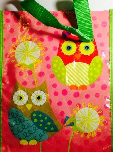 Hoot & Howl Reusable Owl Design Bag ~ Shopping Bag ~ Lunch Sack ~ Book Bag ~ Gift (Pink The Store Bookbags)