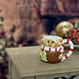 Gingerbread Man Holiday Character 12 Oz. Ceramic Dolomite Christmas Coffee Mug
