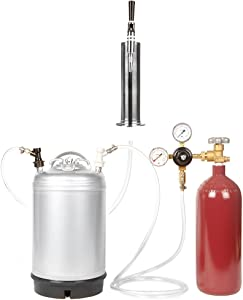 Nitrogen Stout Beer Keg Kit - 3 Gallon Keg, Nitrogen Tank, Tap, and More