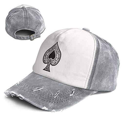 (Vintage General-Purpose Poker Ace of Spades Multicolor Adjustable Baseball Cap Dad Hat)