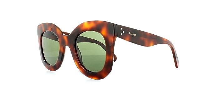 Celine - Gafas de sol - para mujer Beige Havana: Amazon.es ...