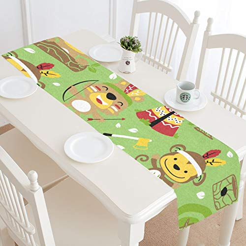 WUwuWU Archery Sports Competition Summer Table Runner Kitchen Dining Table Runner 16x72 Inch for Dinner Parties Events Decor