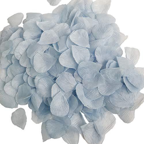 DALAMODA 1000pcs Silk Rose Petals Artificial Flower Wedding Party Aisle Decor Tabl Scatters Confett (Blue #4)