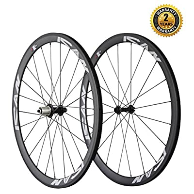 ICAN Carbon Road Bike 700C Wheelset Clincher 38mm Rim Sapim Cx-ray Spokes Only 1350g(Best for:climbing and sprinting)