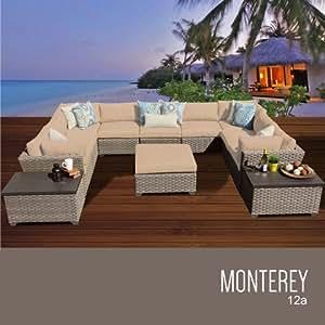 TKC Monterey 12piezas al aire libre mimbre muebles de jardín de