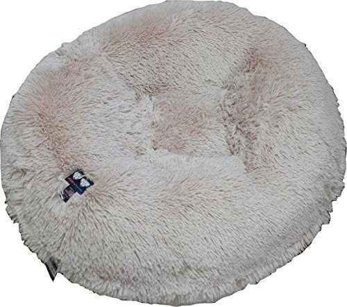 BESSIE AND BARNIE 60-Inch Bagel Bed for Pets, X-Large, Blond