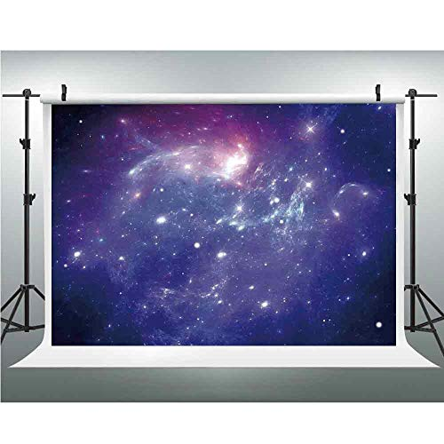 - Backdrops for Photography,Space Decorations,Background Photo Booth,6.5x10ft,Nebula Gas Cloud of Dust Spiral Expanse Planet Galaxy System Milky Way Home Decor