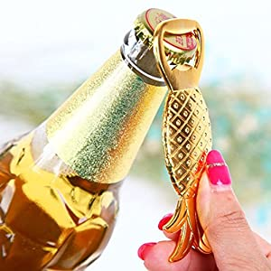 PIXNOR Bottle Opener Set Beer Opener Wedding Favors Opener Pineapple Shape (Golden)