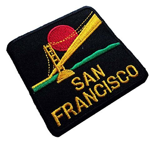 (Beautiful San Francisco Golden Gate USA Bags Jeans Jackets Embroidered Iron on Patch Free Shipping)