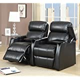 Elements International Cecille 2 Piece Home Theater Power Recliner Set