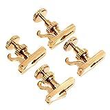 4pcs Violin String Adjuster Violin Fine Tuners String Adjuster 4/4 Violin Parts Gold