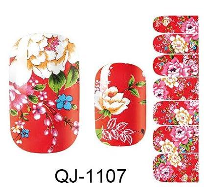 feuille complète de stickers au couleurs de l'espace pour la décoration des ongles - QJ1095 Nail Sticker Tattoo - FashionLife