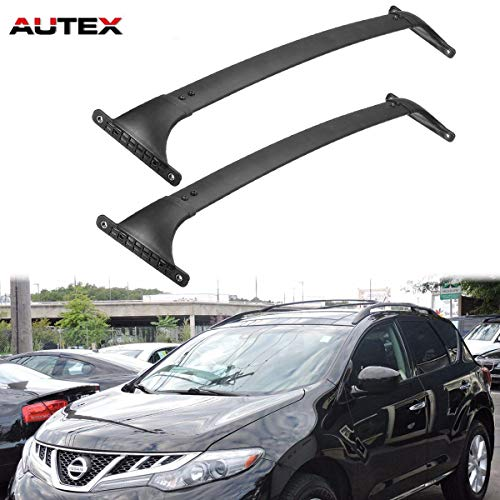 AUTEX 2Pcs Aluminum Roof Rack Top Cross Bar Compatible with Nissan Murano 2009 2010 2011 2012 2013 2014 Cargo Rack Luggage Carrier Rail Rack Crossbars ()