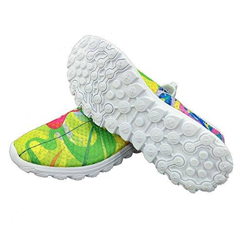 Per Te Disegni Colorati Pigmenti Stampa Donna Casual Scarpe Da Passeggio A Rete Multi 2