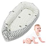 Baby Bassinet for Bed,All in One Baby Lounger,Newborn Infant Toddler Portable Co-Sleeping Cribs & Cradles Lounger Cushion Super Soft Breathable Sleep Nest,Cocoon Snuggle Bed for 0-2 Years Old