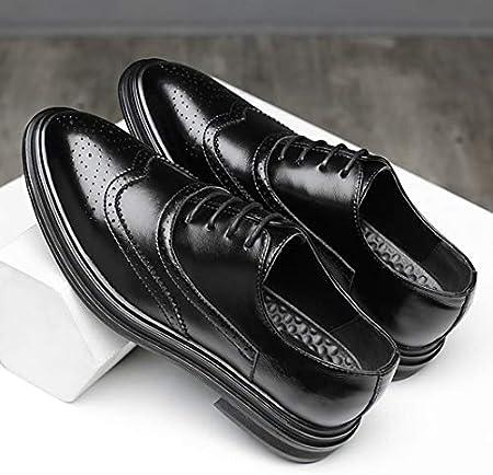 Oxfords Bullock Tallado, Transpirable, Antideslizante, para Hombre, Negro, marrón y Primavera, Zapatos de Negocios.