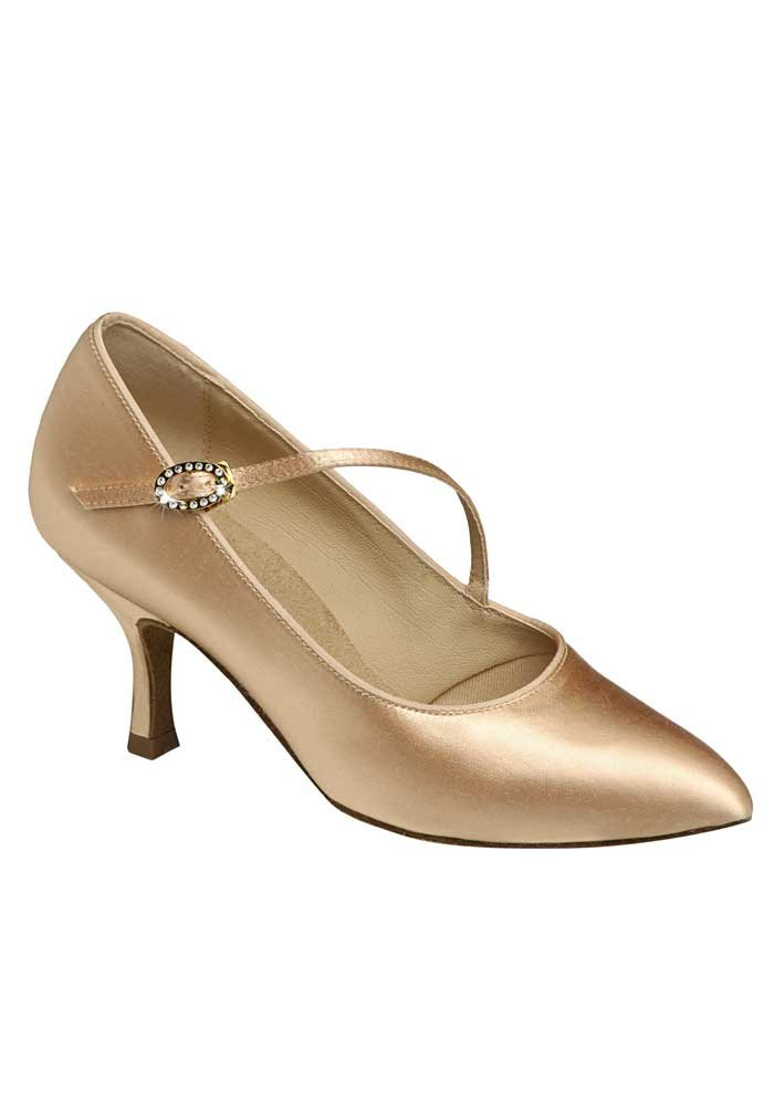 Supadance Womens Ballroom Shoes 1004 with Regular Width and 2.5'' Contour Heel (UK 6, Flesh Satin)