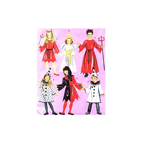 OOP McCall's Costume Pattern M5729. Children's.kids/boys/girls Szs 3/4;5/6 Court Jester; Clown; Devil; Angel]()