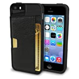 Silk iPhone SE/5s/5 Wallet Case - Q Card Case for iPhone 5 / 5s / SE [Protective Slim CM4 Cover] - Black Onyx