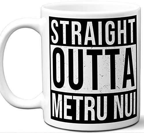 Gift Mug For Bionicle Fan. Straight Outta Metru Nui. Funny Him Her Coffee Tea Women Men Birthday Christmas Fathers Day Mothers Day.