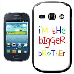 Fancy A Snuggle - Carcasa rígida para Samsung Galaxy Fame S6810, con texto I'm the Bigger Brother