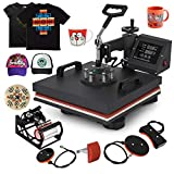 Mophorn Heat Press 15x15 Inch 5pcs Heat Press Machine 1050W Multifunctional Sublimation Dual LED Display Heat Press Machine for t Shirts Swing Away Design (15x15Inch, 5IN1 Element): more info