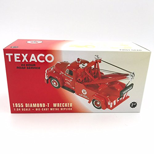 1955 Diamond T Wrecker Tow Truck Texaco Die Cast Metal Replica 1:34 Scale (Diecast Wrecker Truck)
