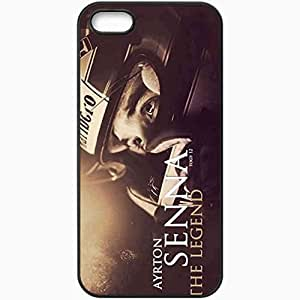 Personalized iPhone 5 5S Cell phone Case/Cover Skin Ayrton senna da silva ayrton senna da silva racing driver formula 1 Black