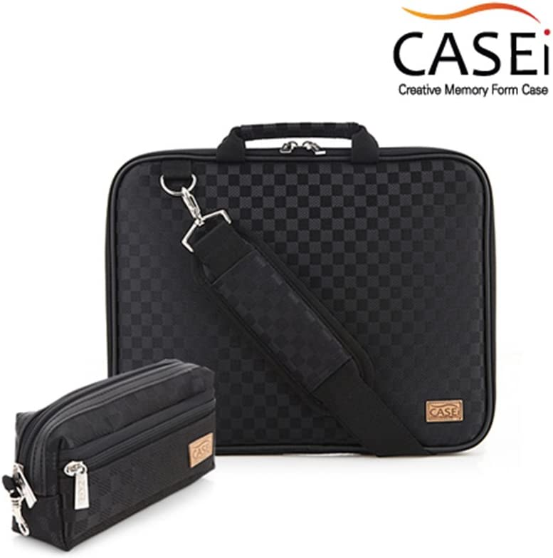 Simple Type Case i Laptop Bag Black Color Chess Check Pattern 13.3inches Simple Design