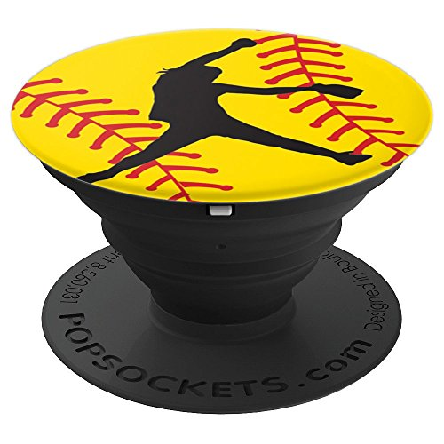 Softball Pitcher - PopSockets Grip and Stand for Phones and Tablets