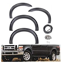 4 Piece Textured Black Fender Flare Set for 1999-2007 Ford F150 F250 F350