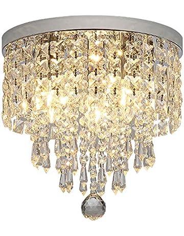 8b5efcc1b6e8 Hsyile KU300142 Modern Chandelier Crystal Ball Fixture Pendant Ceiling Lamp  H9.84