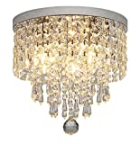 Hsyile KU300142 Modern Chandelier Crystal Ball Fixture Pendant Ceiling Lamp H9.84″ X W9.84″,For Living room,Bedroom,Aisle,Corridor,3 Lights For Sale