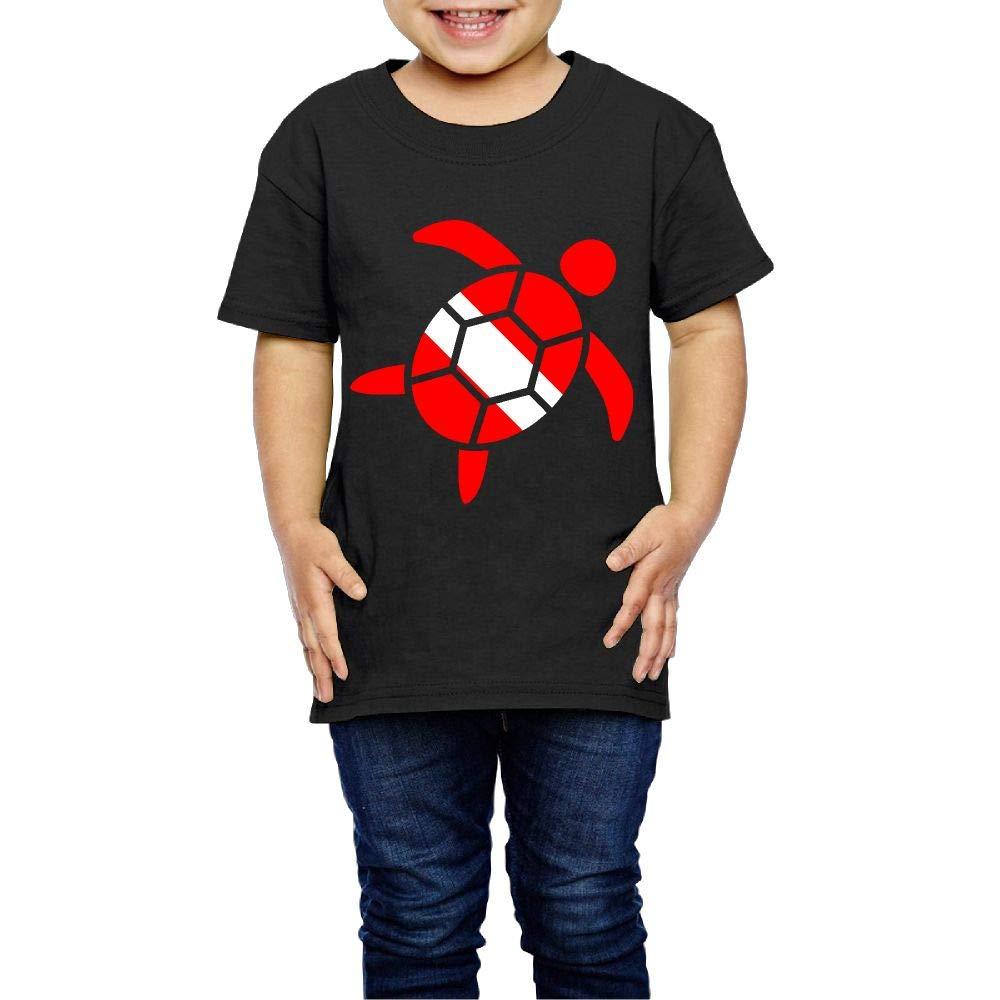 XYMYFC-E Sea Turtle Scuba Dive Flag 2-6 Years Old Boys /& Girls Short-Sleeved Tshirts