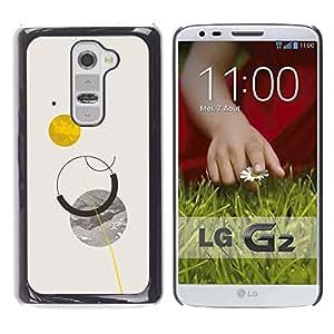 MobileHut / LG G2 D800 D802 D802TA D803 VS980 LS980 / Sun Planets Moon Sky Minimalist / Delgado Negro Plástico caso cubierta Shell Armor Funda Case Cover