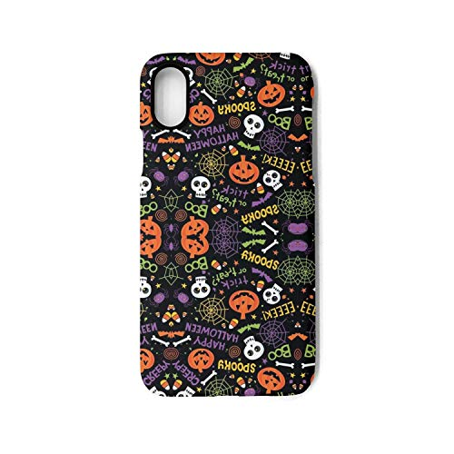 IPhoneX Case Halloween Pumpkin Skull Printing Anti-Finger Anti-Scratch TPU Heavy Duty Protection Phone Back Cover for iPhoneX Case]()