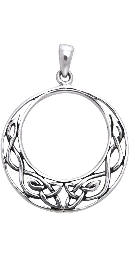 Jewelry Trends Sterling Silver Celtic Knot Work Round Pendant