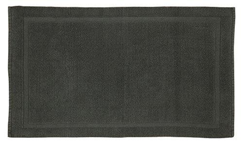 Series Organic (Grund Certified 100% Organic Cotton Bath Mat, Charleston Series, 17-Inch by 24-Inch, Slate Gray)