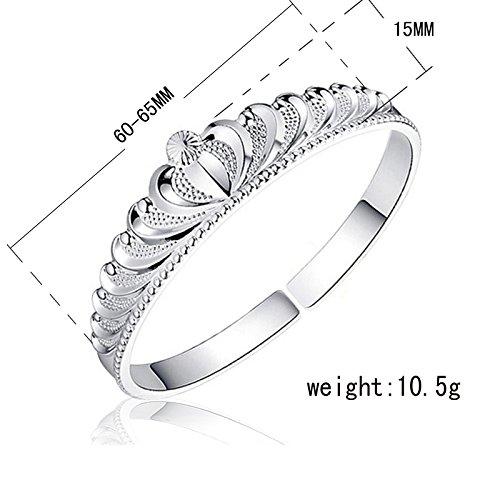 Ecloud Shop silver-plated crown bracelet (Crown Silver Mine)