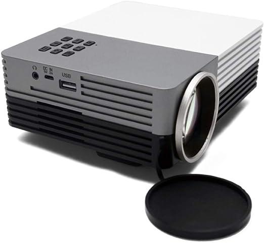 TYY Proyector LED Casero Mini HD, Fuente De Alimentación Móvil ...