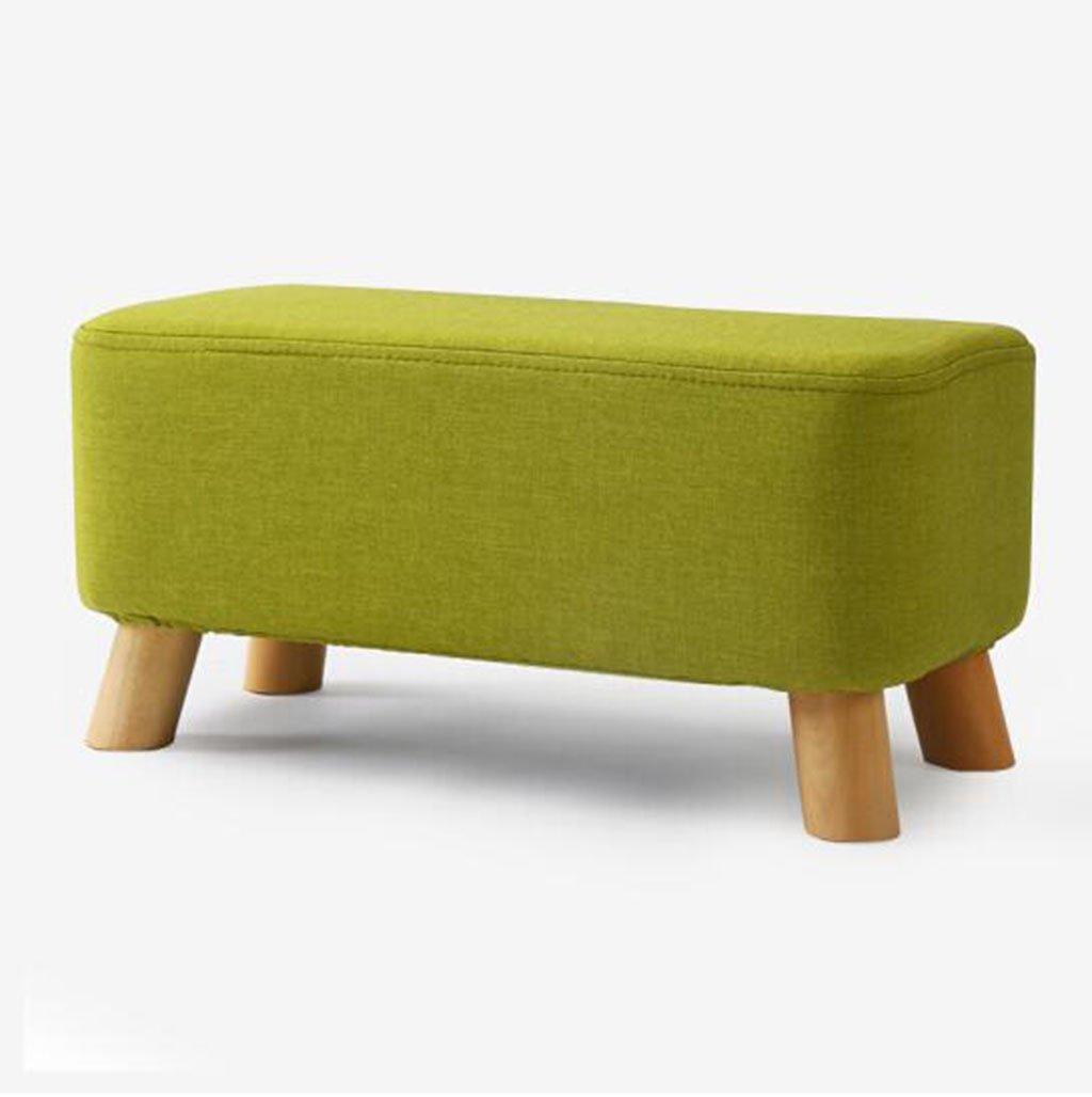 sgabello in legno Sgabello in legno massello a 4 piedi/quadrato a strisce in tessuto, sgabello per divano (Colore : #1) WYF-sgabello in legno