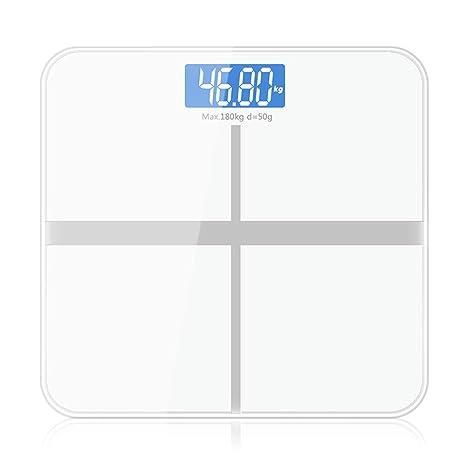 Báscula De Baño Digital Con Sensor De Alta Precisión, Apagado Automático, Pantalla LCD,